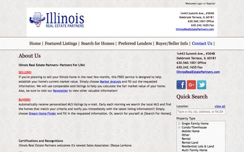 Screenshot of About Page illinoisrealestatepartners.com - About Us    Illinois Real Estate Partners - captured Aug. 5, 2016