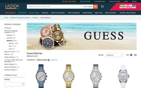 Guess Watches Singapore | Men & Women | Lazada