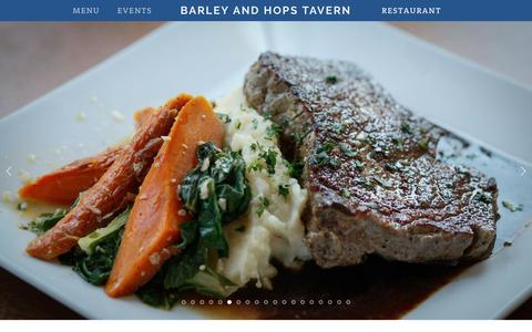 Screenshot of Home Page barleynhops.com - Barley and Hops Tavern - captured Nov. 22, 2016
