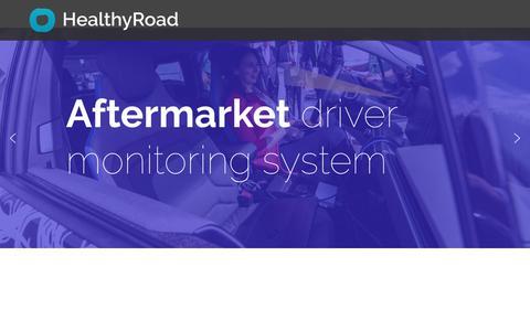 Screenshot of Home Page healthyroad.pt - HealthyRoad – AI for inside cabin monitoring - captured Dec. 8, 2018