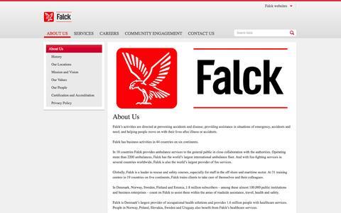 Screenshot of About Page falck.com.au - About Us - Falck - captured Oct. 27, 2014
