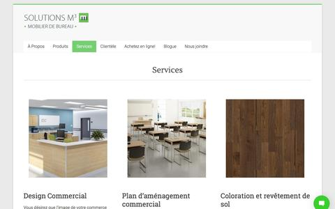 Screenshot of Services Page solutionsm3.com - Services   Solutions M3 - captured Oct. 22, 2017
