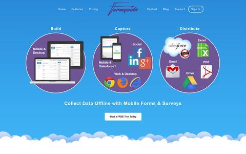 Screenshot of Home Page formyoula.com - Formyoula - captured Jan. 27, 2015