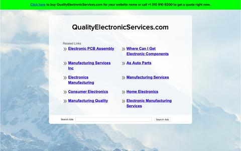 Screenshot of Home Page qualityelectronicservices.com - QualityElectronicServices.com - captured Sept. 28, 2018