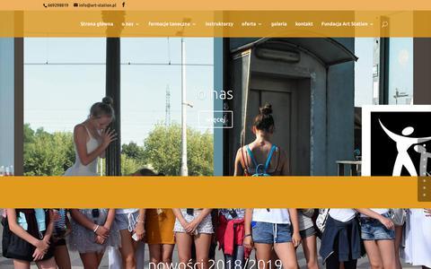 Screenshot of Home Page art-station.pl - art-station - Art-Station - captured Oct. 27, 2018
