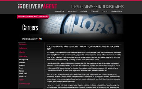 Screenshot of Jobs Page deliveryagent.com - Delivery Agent Job Openings   Commerce Solutions   Delivery Agent, Inc. - captured Sept. 15, 2014