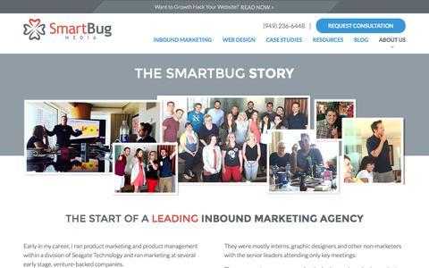 Screenshot of About Page smartbugmedia.com - Leading Inbound Marketing Agency   About SmartBug Media   Our Team - captured June 25, 2016