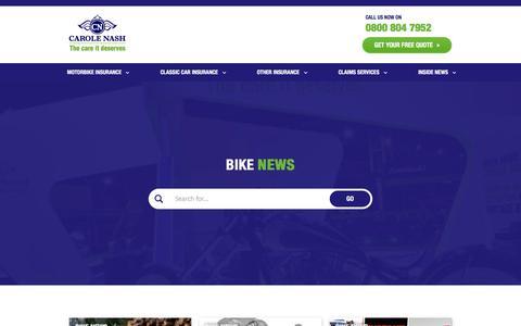 Screenshot of Press Page carolenash.com - Bike News - Carole Nash - captured Sept. 24, 2018