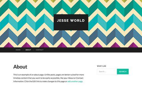 Screenshot of About Page jesse-world.com - About | Jesse World - captured Oct. 16, 2017