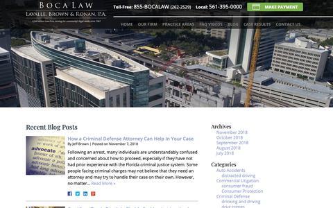 Screenshot of Blog lavallebrown.com - Blog | Lavalle, Brown & Ronan, P.A. - captured Nov. 10, 2018