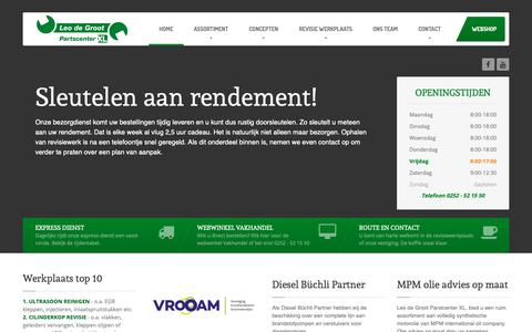 Screenshot of Home Page leodegroot.nl - Leo de Groot Partscenter XL - captured Sept. 28, 2018