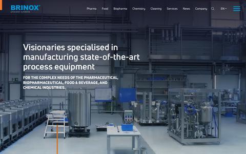 Screenshot of Home Page brinox.eu - Complete turnkey solutions | Brinox - captured Nov. 13, 2018