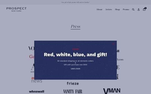 Screenshot of Press Page prospectny.com - Press                      – Prospect NY - captured July 7, 2018