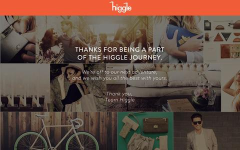 Screenshot of Home Page higgle.com - Higgle - Prices decided by you. - captured Nov. 10, 2015