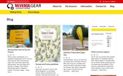 Screenshot of Blog reversegearinc.com - Blog   Reverse Gear - captured Aug. 14, 2016