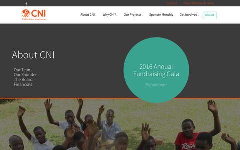 Screenshot of About Page childlifenetwork.com - About : Childlife Network International Inc. - captured Nov. 5, 2016