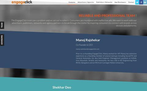 Screenshot of Team Page engageclick.com - EngageClick - Team - captured Sept. 30, 2014