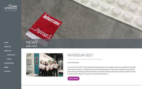 Screenshot of Press Page spinks-springs.com - News | Spinks Springs - captured Nov. 15, 2017