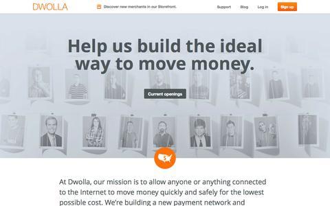 Screenshot of Jobs Page dwolla.com - Jobs   Dwolla - captured Sept. 15, 2014