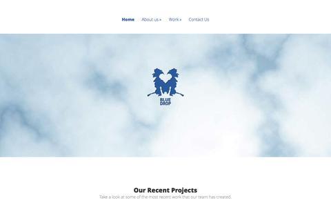 Screenshot of Home Page onebluedrop.com - Blue Drop - captured Oct. 5, 2014