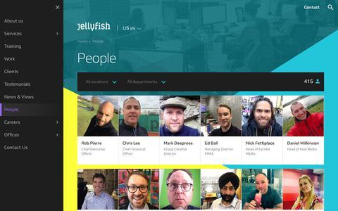 Screenshot of Team Page jellyfish.net - People | Jellyfish US - captured Sept. 27, 2018