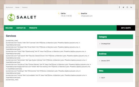 Screenshot of Services Page saalet.com - Services - Saalet ApS - captured Dec. 17, 2018