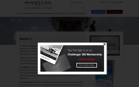 Screenshot of About Page magellanjets.com - About Magellan Jets   Magellan Jets - captured Nov. 6, 2015
