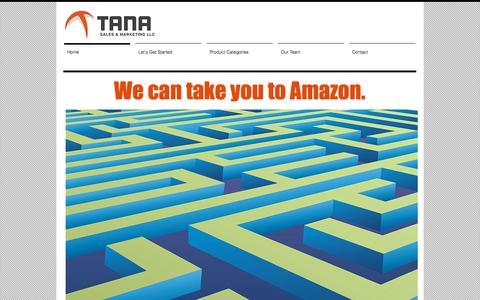 Screenshot of Home Page tanasales.com - Tana Sales - captured Oct. 7, 2014