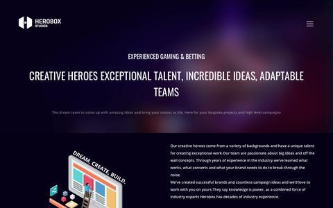 Screenshot of Services Page heroboxstudios.com - services   Herobox Studios - captured Sept. 11, 2018