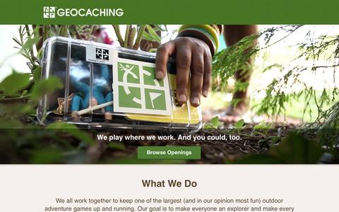 Screenshot of Jobs Page geocaching.com - Geocaching Jobs   We play where we work.  And you could, too. Keep reading and see  if there's a spot for you. - captured Nov. 4, 2014