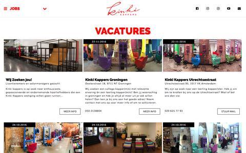 Screenshot of Jobs Page kinki.nl - Jobs @ Kinki Kappers - captured Nov. 27, 2016