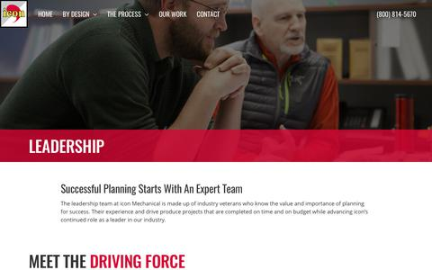 Screenshot of Team Page iconmech.com - Leadership | icon Mechanical - captured Oct. 16, 2017
