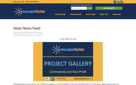 Screenshot of Press Page geoscapesolar.com - News - Geoscape Solar - captured May 17, 2017