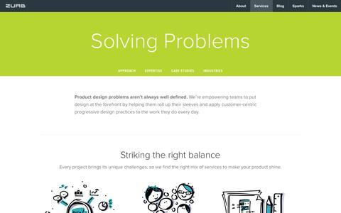 Screenshot of zurb.com - ZURB | How We Make Great Product Design Happen - captured Dec. 9, 2016