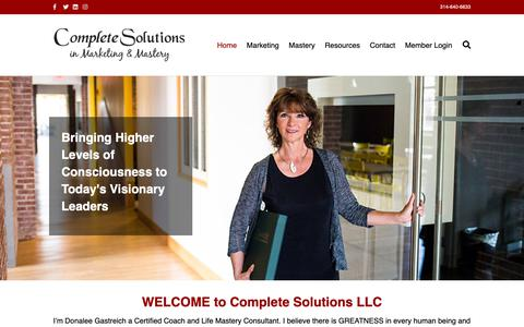 Screenshot of Home Page complete-solutionsllc.com - complete-solutionsllc.com - captured Dec. 15, 2018