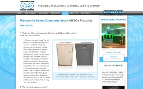 Screenshot of FAQ Page ameribike.com - Frequently Asked Questions about ABSCo Products - captured Oct. 4, 2014