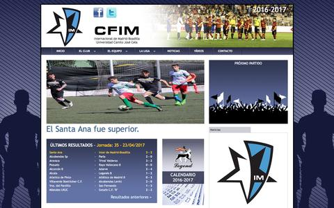 Screenshot of Home Page interdemadrid.com - Internacional de Madrid - captured May 7, 2017