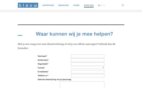 Contact | Blauw Research