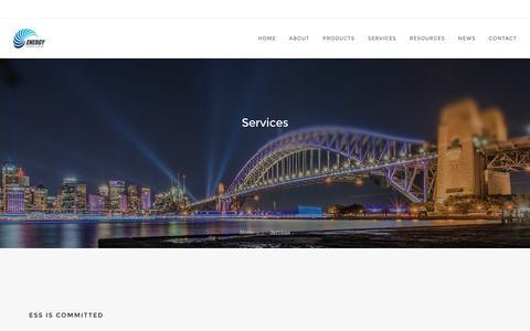 Screenshot of Services Page energyservices.com.au - Services - Energy Systems & Services - captured Nov. 8, 2016