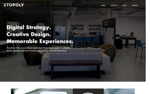 XTOPOLY - OC Digital Agency | Strategic | Creative | UX | UI - Home