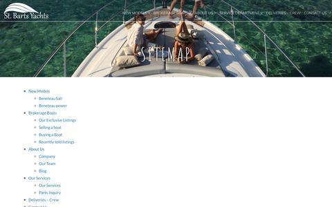 Screenshot of Site Map Page st-barts.com - Sitemap - St Barts Yacht Sales - captured Nov. 11, 2017