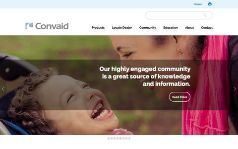 Screenshot of Home Page convaid.com - Folding Wheelchairs - Travel Wheelchairs - Pediatric Wheelchairs | Convaid - captured May 21, 2017