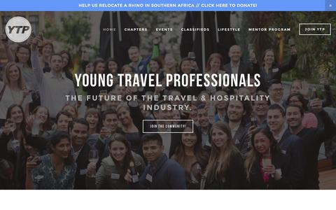 Screenshot of Home Page youngtravelprofessionals.com - Young Travel Professionals - captured Sept. 5, 2015