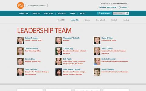 Screenshot of Team Page pgi.com - PGi Leadership | PGi Management Team | PGi - captured Oct. 28, 2014