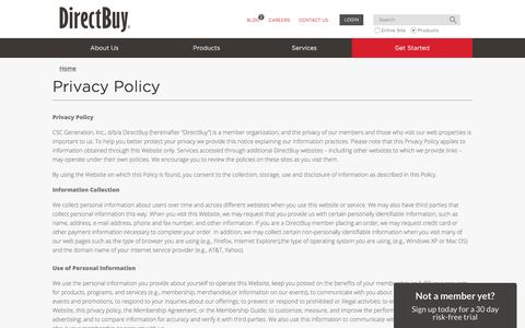 Privacy Policy | DirectBuy