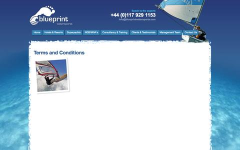Screenshot of Terms Page blueprintwatersports.com - Terms and Conditions - captured Oct. 5, 2014