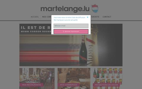 Screenshot of Home Page martelange.com - Martelange.lu - Shops spécialisés - Spiritueux/Alcool/Tabac Luxembourg - captured Dec. 5, 2018