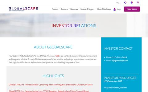 Investor Relations | Globalscape