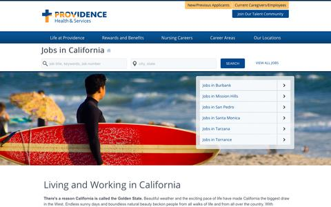 Screenshot of Home Page providence-california.jobs - Providence California Jobs - captured Feb. 2, 2018