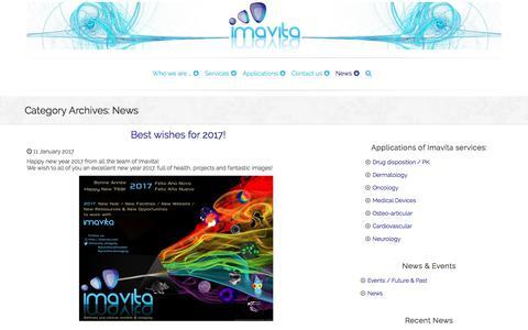 Screenshot of Press Page imavita.com - News Archives • Imavita - captured June 7, 2017